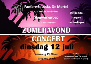 20160712 Zomeravond concert poster 2