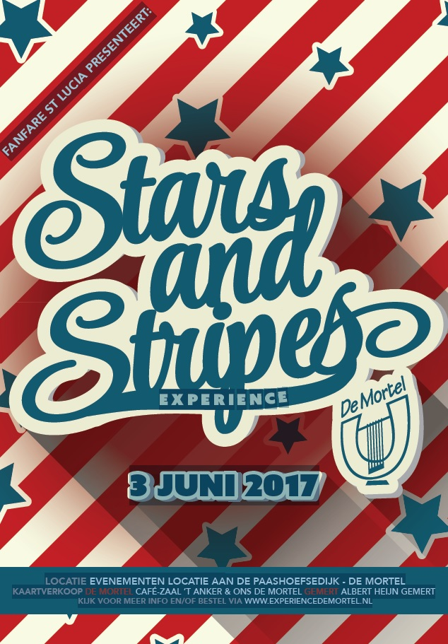 STARTS AND STRIPES poster voor facebook en site