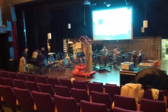 2016 5 nov Theatervoorstelling Joris - Opbouw podium